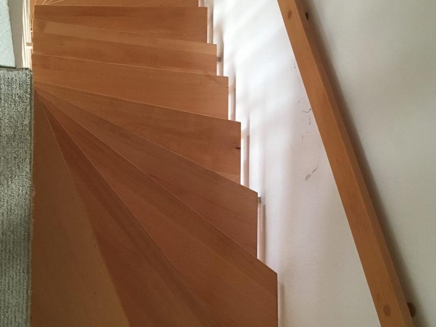 Eine Treppe verschwindet - Treppe vorher