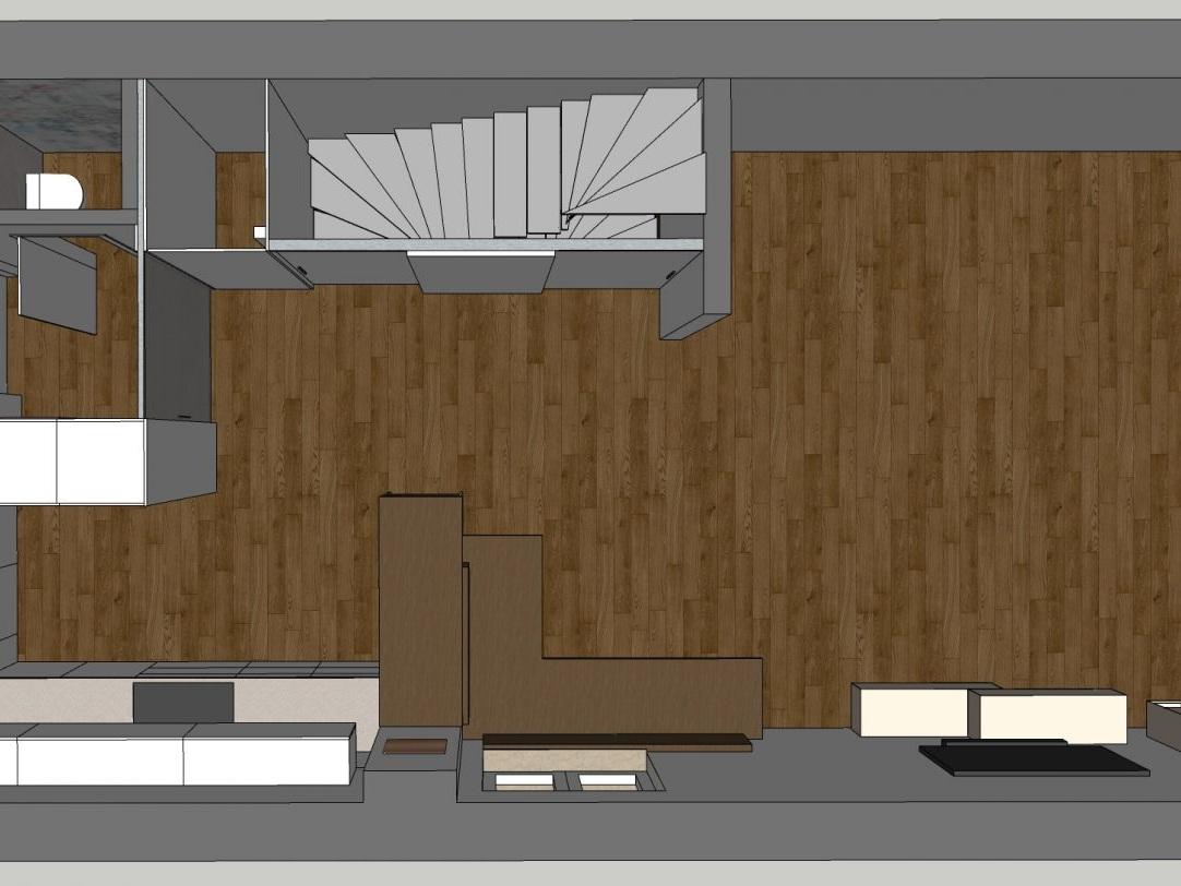 Eine Küche öffnet sich - Visualisierung Erdgeschoss