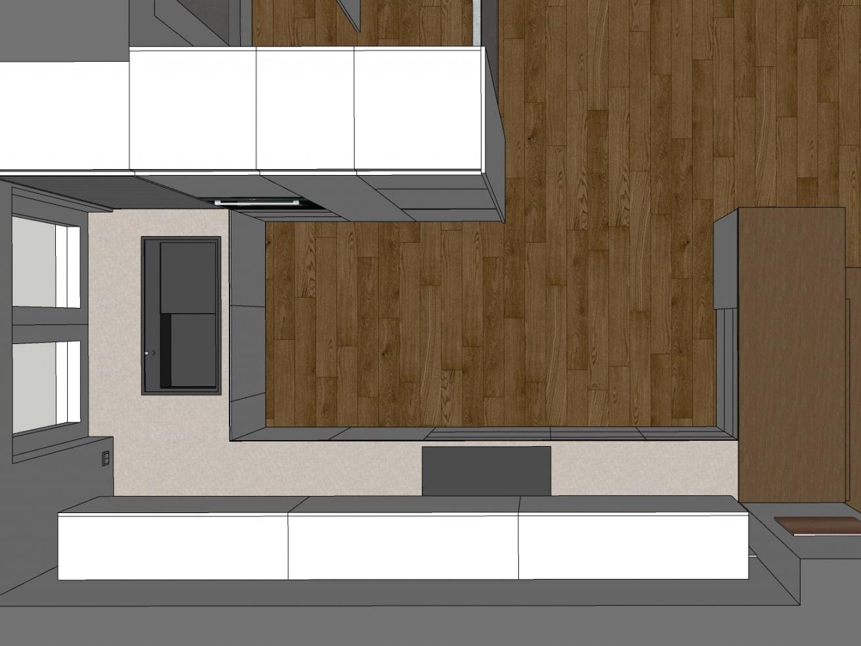 Eine Küche öffnet sich - Visualisierung Küche