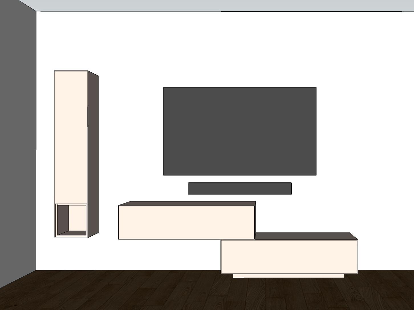 TV-Möbel - Visualisierung