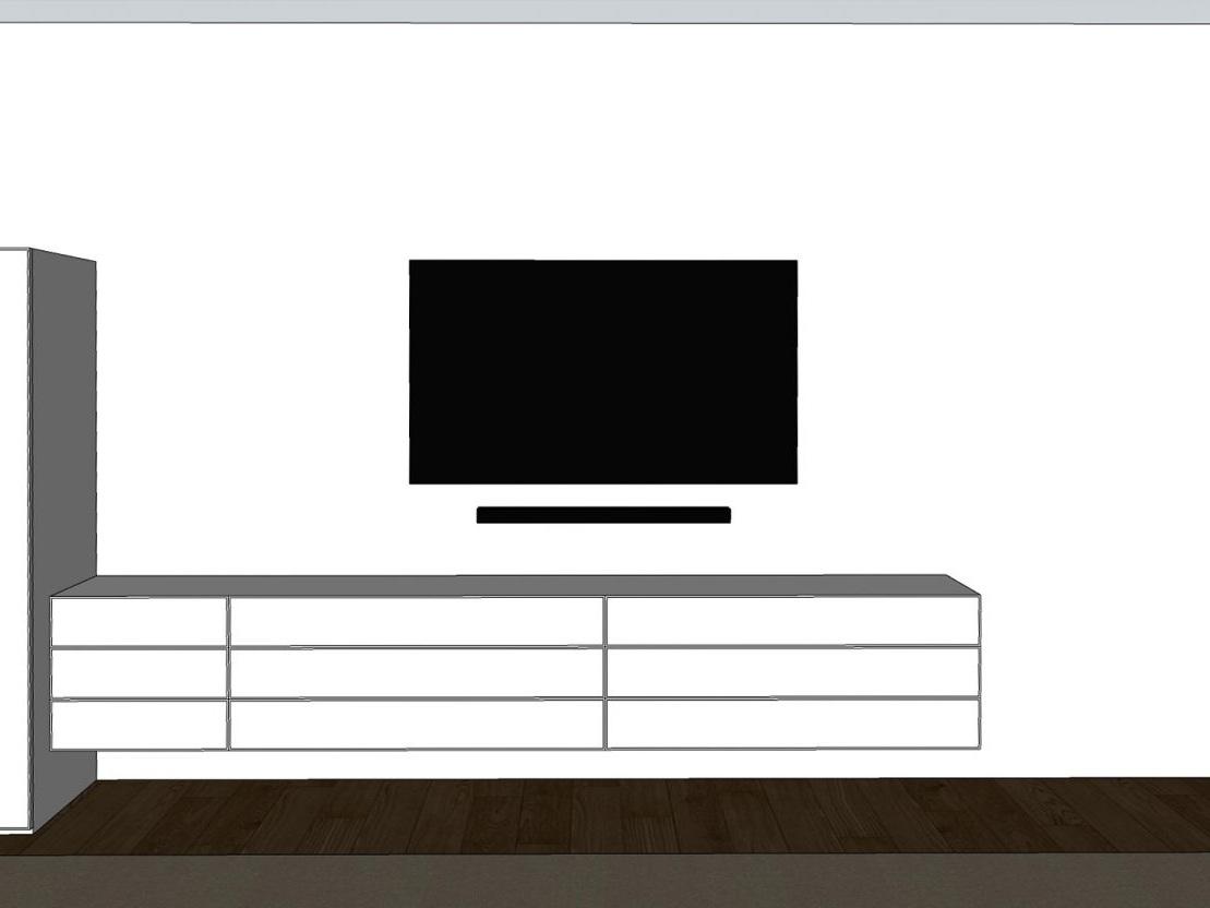 Möbel im Schlafraum - Visualisierung