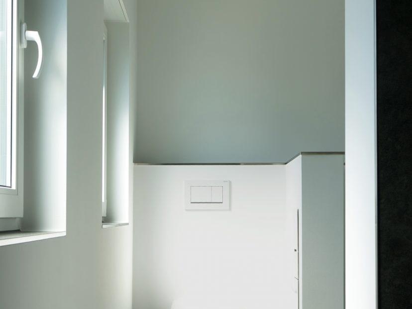 Klare Trennung - Blick aufs WC